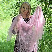 handmade. Livemaster - original item Shawls: Openwork handkerchief-gossamer