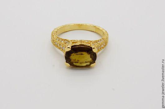 Кольца ручной работы. Ярмарка Мастеров - ручная работа. Купить Женское золотое кольцо Поцелуй Мозамбика. Handmade. Золотое украшение