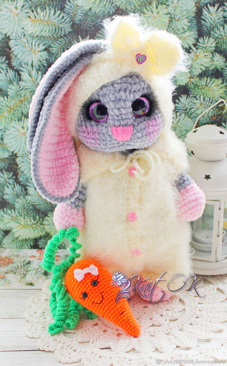 Bunny Lily, Stuffed Toys, St. Petersburg,  Фото №1