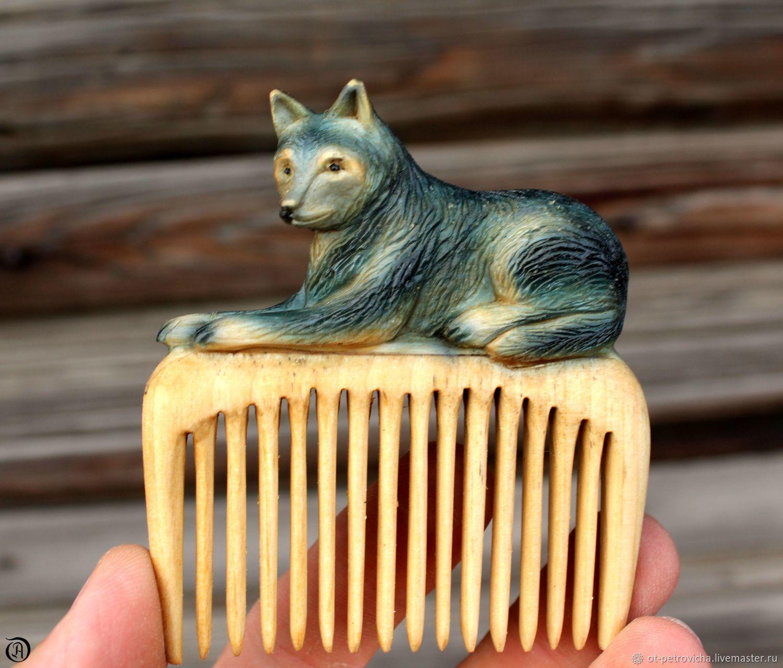 Hair comb.Lupus, Combs, Kamen-na-Obi,  Фото №1