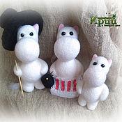 Муми-тролль Муми-семья Муми-долина Семья Валяные войлочные игрушки