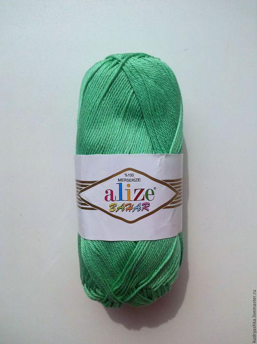 Вязание ручной работы. Ярмарка Мастеров - ручная работа. Купить Пряжа BAHAR Alize. Handmade. Белый, пряжа из хлопка, alize