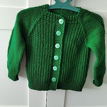 Одежда ручной работы. Ярмарка Мастеров - ручная работа Кофта вязаная green.. Handmade.