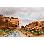Картины и панно handmade. Livemaster - original item Copy of the product Oil Painting Somewhere in the Desert Landscape. Handmade.