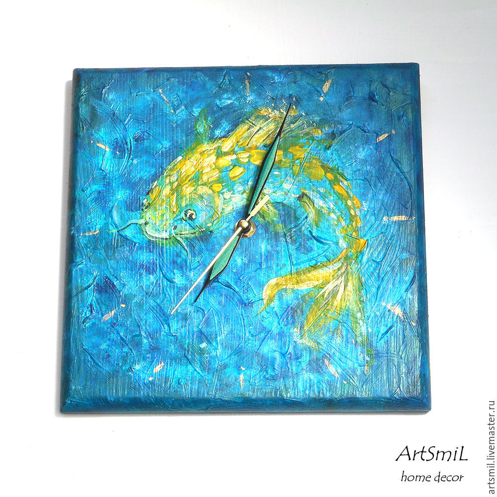 Watch Golden carp. Painting on wood. Handmade, Watch, Moscow,  Фото №1