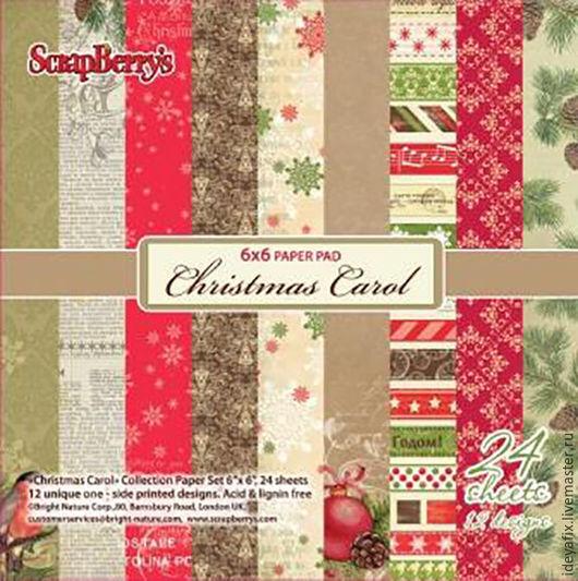 В наборе 24 листа односторонней бумаги с дизайнами коллекции.  Размер: 15х15 см. Плотность: 170 гр/м Коллекция: Ночь перед Рождеством (Christmas Carol). Бренд: ScrapBerry`s