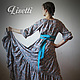 Платья ручной работы. Длинное платье Лазурь. Лиза (lisetti). Ярмарка Мастеров. Купить длинное платье