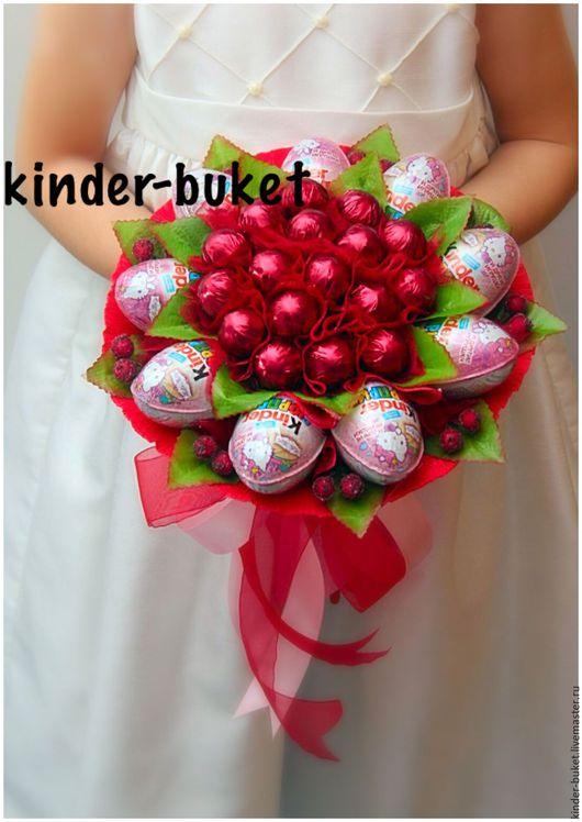 Букет из конфет с киндерами своими руками пошаговое