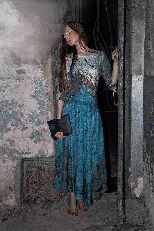 Платья ручной работы. Ярмарка Мастеров - ручная работа. Купить Сияние. Handmade. Фелтинг, валяное платье, авторское платье