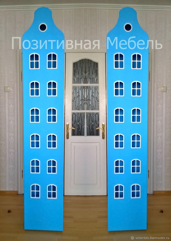 Шкаф Голубой Голландский Домик. Мебель на заказ.Официальный сайт, Шкафы, Москва,  Фото №1