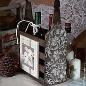 Для дома и интерьера ручной работы. Ярмарка Мастеров - ручная работа Короб  для бутылок. Handmade.