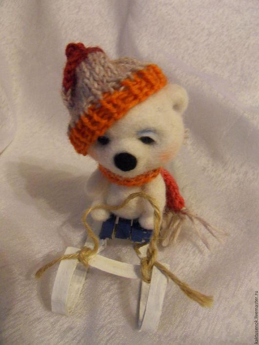 Игрушки животные, ручной работы. Ярмарка Мастеров - ручная работа. Купить мишка Андрюшка. Handmade. Белый, белый медведь