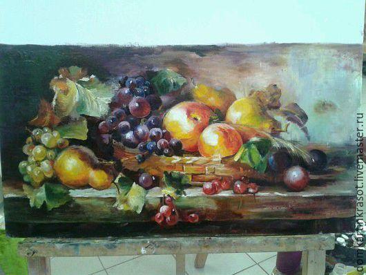 """Пейзаж ручной работы. Ярмарка Мастеров - ручная работа. Купить Картина """"Натюрморт с фруктами"""". Handmade. Комбинированный, живопись в подарок"""