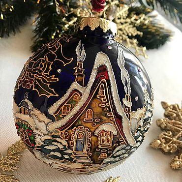 Подарки к праздникам handmade. Livemaster - original item Ball-medallion Fairy houses. Handmade.