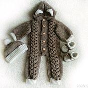 Комбинезоны ручной работы. Ярмарка Мастеров - ручная работа Комбинезон вязанный детский. Handmade.