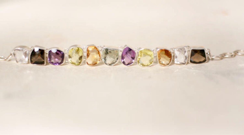 Браслет из серебра и натуральных камней, Браслет из бусин, Москва,  Фото №1