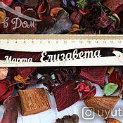 Канцелярские товары handmade. Livemaster - original item A wooden ruler with the name of My spring. Handmade.