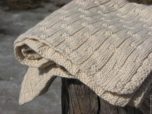 Пледы и одеяла ручной работы. Ярмарка Мастеров - ручная работа. Купить Кашемировый плед, ручное вязание. Детский вязаный плед.. Handmade.