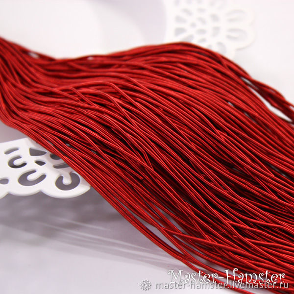 Канитель мягкая красная матовая 1 мм гладкая Индия