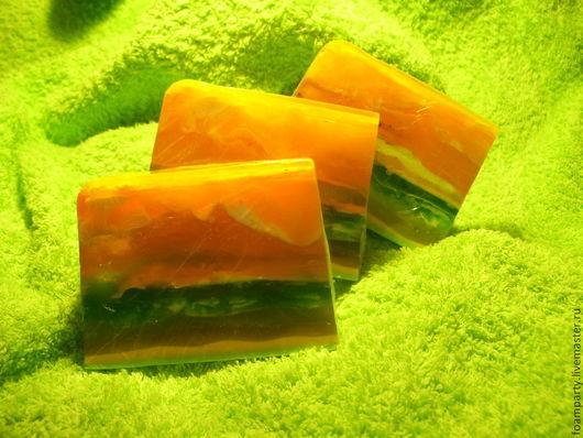 """Мыло ручной работы. Ярмарка Мастеров - ручная работа. Купить Мыло """"Солнечная дыня"""". Handmade. Желтый, фруктовый"""