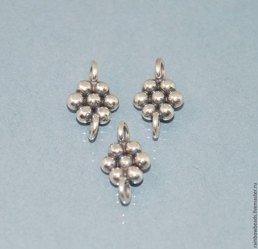 фурнитура серебро; коннектор серебро; коннектор серебряный; серебряный коннектор; коннектор для серег