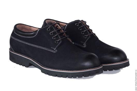 Обувь ручной работы. Ярмарка Мастеров - ручная работа. Купить Мужские ботиник Андрей. Handmade. Тёмно-синий, натуральная кожа