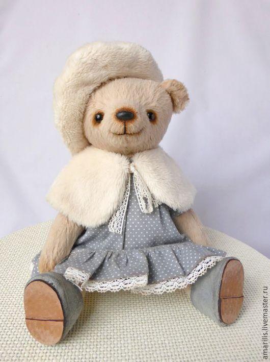 Мишки Тедди ручной работы. Ярмарка Мастеров - ручная работа. Купить Анжела. Handmade. Бежевый, Платье нарядное, мишка девочка