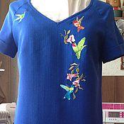"""Одежда ручной работы. Ярмарка Мастеров - ручная работа Платье с вышивкой """"птицы"""". Handmade."""
