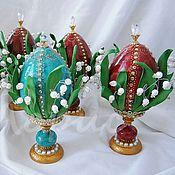 Сувениры и подарки ручной работы. Ярмарка Мастеров - ручная работа Яйцо декоративное Ландыши. Handmade.