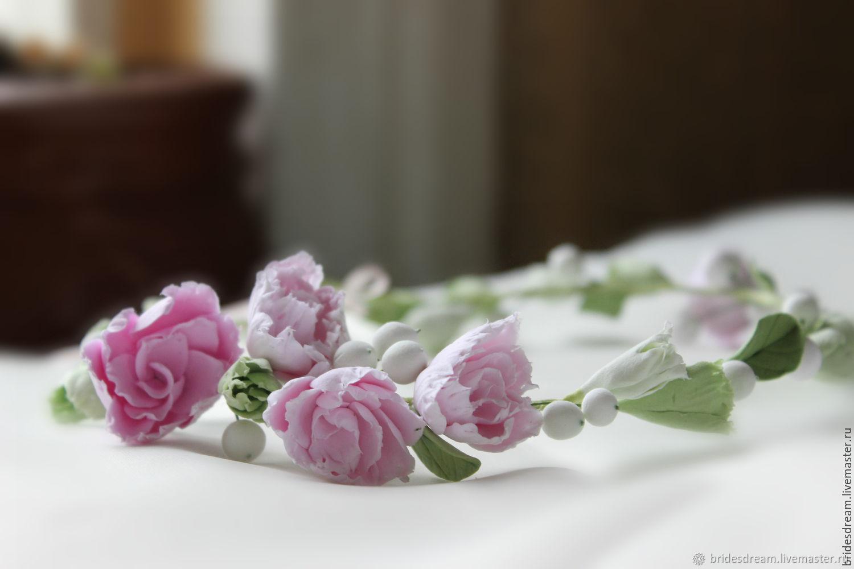 a wreath on the head. tiara. Crown. Prom, Bridal Tiara, Moscow,  Фото №1