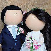 Свадебный салон ручной работы. Ярмарка Мастеров - ручная работа Свадебные куклы (пара 7). Handmade.