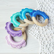 Одежда handmade. Livemaster - original item Teether-ring binding-petals. Handmade.