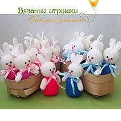 """Подарки к праздникам ручной работы. Ярмарка Мастеров - ручная работа """"Пасхальные зайчики - девочки и мальчики"""" вязаные игрушки. Handmade."""