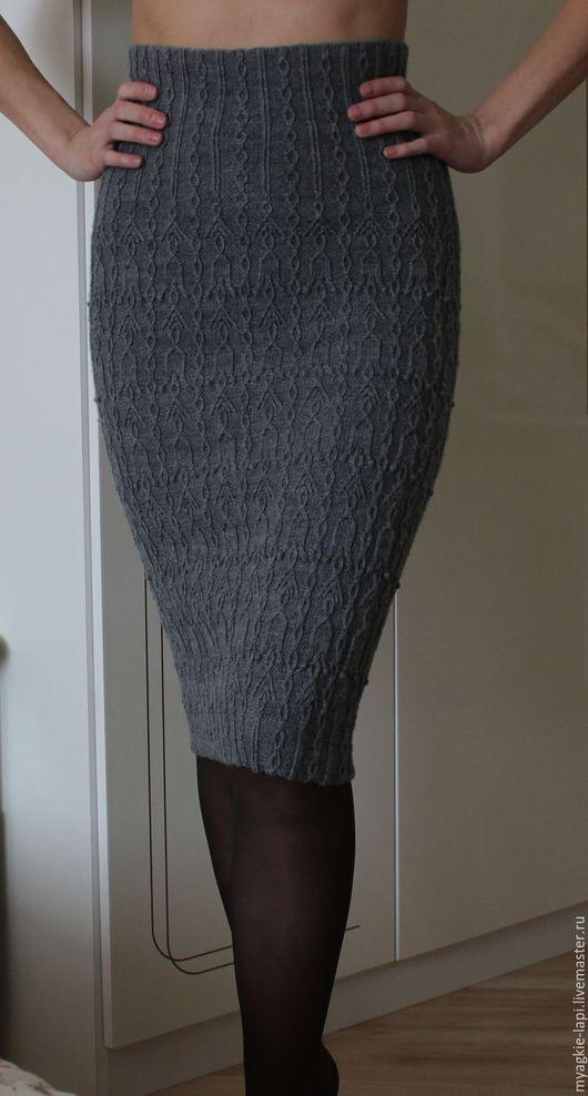 Юбки ручной работы. Ярмарка Мастеров - ручная работа. Купить Мастер-класс по вязанию юбки. Handmade. Темно-серый