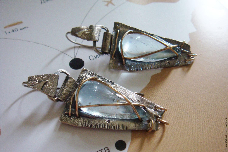 Earrings from silver 925 in the style of boho Egyptian, Earrings, Lyubertsy,  Фото №1