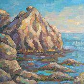 """Картины ручной работы. Ярмарка Мастеров - ручная работа Картина """"Каменистый берег"""" пейзаж. Handmade."""