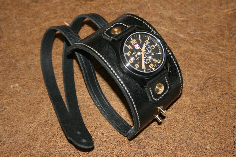 Кожаный браслет для часов своими руками 87