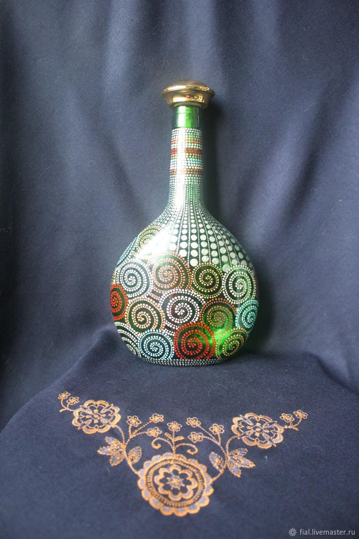Decorative Tableware handmade. Livemaster - handmade. Buy 'Snails' bottle.Bottle, glass