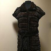 Одежда handmade. Livemaster - original item Vest knitted mink. Handmade.