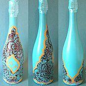 Свадебный салон handmade. Livemaster - original item Wedding decoration of bottles painted