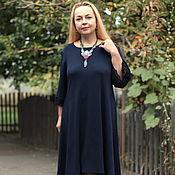 "Одежда handmade. Livemaster - original item Knitted dress"" boho style"" deep blue. Handmade."