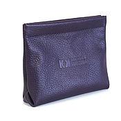 Сумки и аксессуары handmade. Livemaster - original item Purple Cosmetic bag - pocket, flexible frame - Case cover Wallet. Handmade.