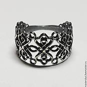 Украшения handmade. Livemaster - original item Openwork ring - blackened silver 925. Handmade.