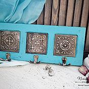 Ключницы ручной работы. Ярмарка Мастеров - ручная работа Ключница Азулежу с декоративными плитками. Handmade.