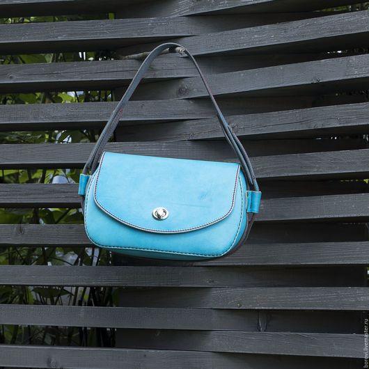 Женские сумки ручной работы. Ярмарка Мастеров - ручная работа. Купить Женская сумка Mary бирюзовая. Handmade. Голубой
