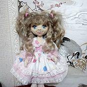 Шарнирная кукла ручной работы. Ярмарка Мастеров - ручная работа Шарнирная кукла: Кукла текстильная Маришка. Handmade.