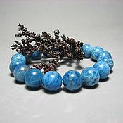 Украшения handmade. Livemaster - original item Bracelet blue Apatite