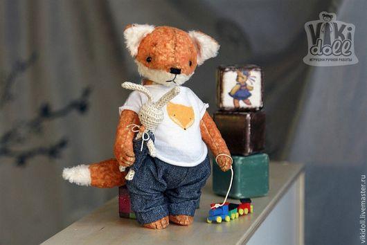 Мишки Тедди ручной работы. Ярмарка Мастеров - ручная работа. Купить Лисенок тедди Луис (РЕЗЕРВ для Михаила). Handmade. Рыжий