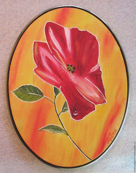 Картины цветов ручной работы. Ярмарка Мастеров - ручная работа. Купить Мак. Handmade. Маки, изобразительный искусство, картина автор