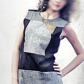 Одежда handmade. Livemaster - original item Linen sleeveless dress poluprilegayuschy. Handmade.